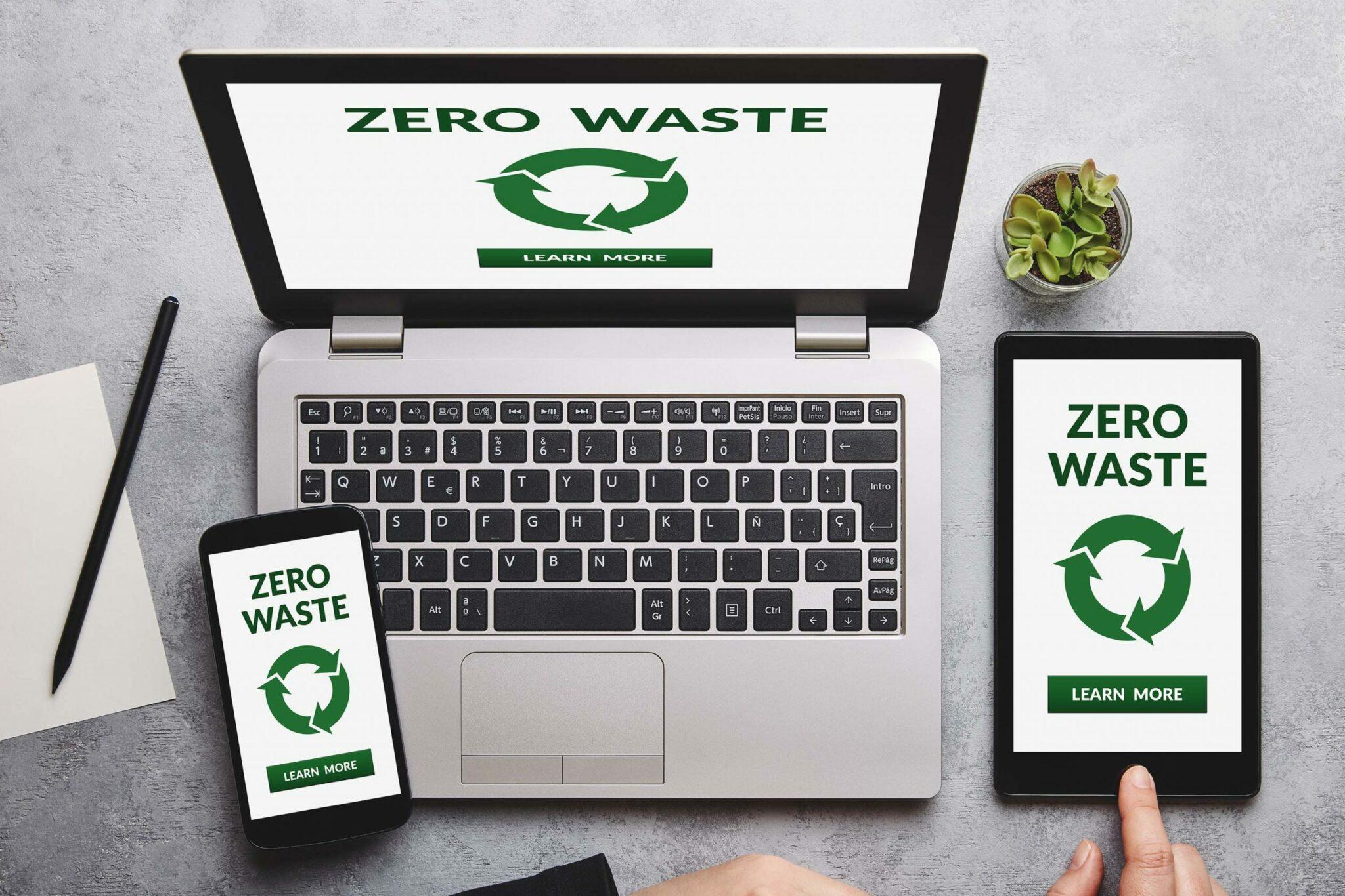 """Electronics saying """"zero waste"""""""