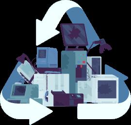 Recycling broken electronics